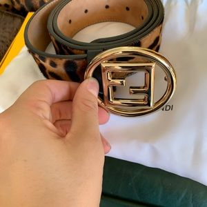 Brand new leopard skin Fendi Belt